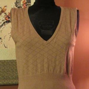 (3011) Dusty Rose Cross Stitch Knit V-Neck Cami -S